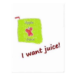 Jag önskar fruktsaft vykort