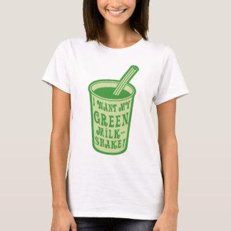 Jag önskar min gröna MilkshakeT-tröja Tee