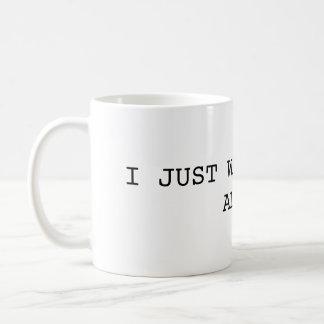 Jag önskar precis att kissa den ensamma muggen kaffemugg
