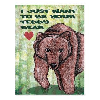 Jag önskar precis att vara din nalle vykort
