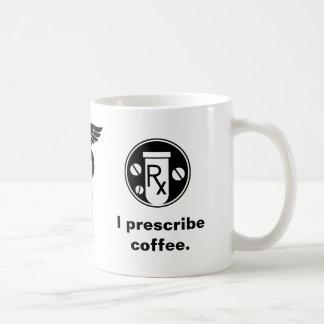 Jag ordinerar kaffe kaffemugg