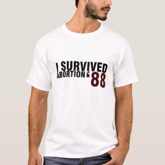 Jag överlevde abort '88 tee