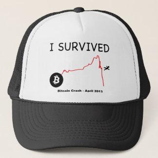 Jag överlevde: Bitcoin krasch - April 2013 Truckerkeps