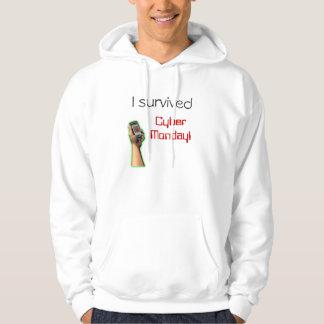 Jag överlevde cyberen Måndag Sweatshirt
