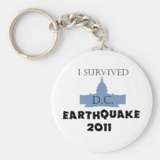 Jag överlevde D.C. Jordskalv 2011 Rund Nyckelring