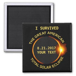 Jag överlevde den sammanlagda sol- förmörkelsen