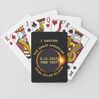 Jag överlevde den sammanlagda sol- förmörkelsen casinokort