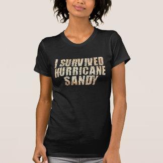 Jag överlevde den sandiga bekymrade T-tröja för Tee Shirts