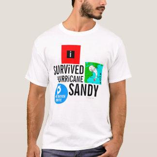 Jag överlevde den sandiga orkanen undertecknar tee shirt