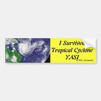 Jag överlevde den tropiska cyclonen YASI Bildekal
