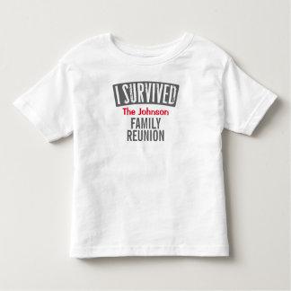 Jag överlevde - familjmötet - personifierar det t shirt