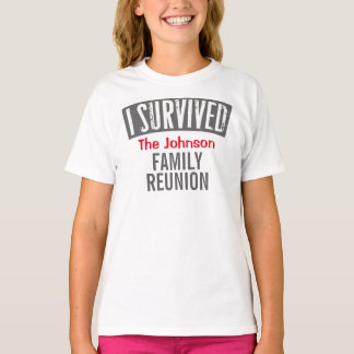 Jag överlevde - familjmötet - personifierar det t-shirt