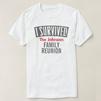Jag överlevde - familjmötet - personifierar det tröjor