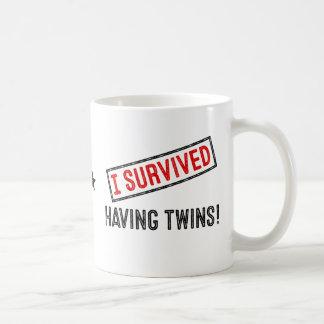 Jag överlevde ha twillingar! Mugg