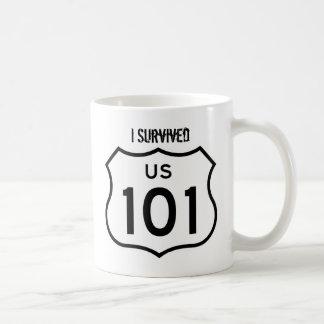 Jag överlevde kaffemuggen för US 101 Kaffemugg