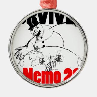 Jag överlevde Nemo 2013 Julgransprydnad Metall