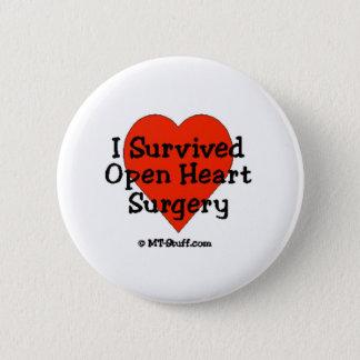 Jag överlevde öppen hjärtakirurgi standard knapp rund 5.7 cm