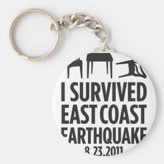 Jag överlevde ostkustjordskalv rund nyckelring