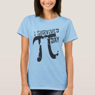 Jag överlevde Pi-dagen - rolig Pi-dag Tshirts