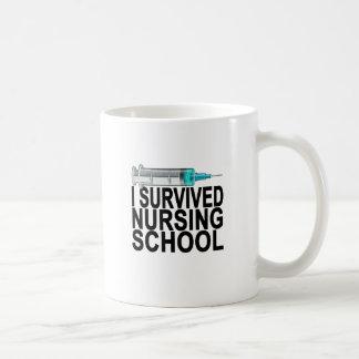 Jag överlevde sjukvård skolar kvinna T-tröja Kaffemugg