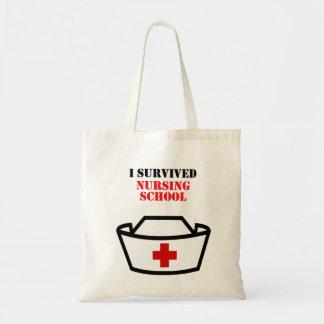 Jag överlevde sjukvård skolar tygkasse