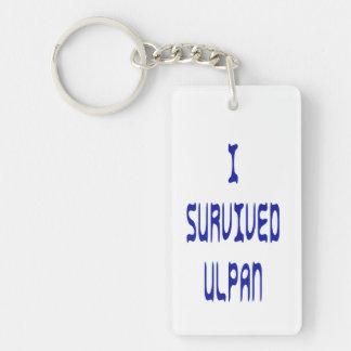 Jag överlevde Ulpan Nyckelring