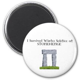 Jag överlevde vinterSolstice på Stonehenge Magnet