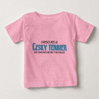 Jag räddade en Cesky Terrier (den kvinnliga T-shirts