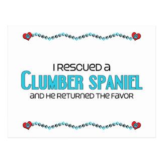 Jag räddade en Clumber Spaniel (den Male hunden) Vykort