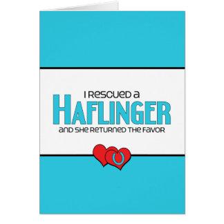 Jag räddade en Haflinger (den kvinnliga hästen) Hälsningskort