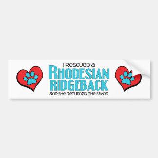 Jag räddade en Rhodesian Ridgeback (den kvinnliga  Bildekal