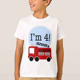 Jag röd förmiddag fyra avfyrar lastbilen tshirts