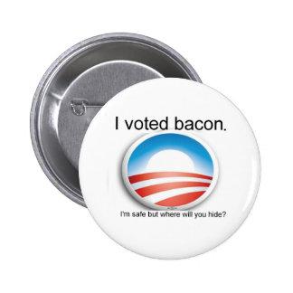 Jag röstade bacon knäppas standard knapp rund 5.7 cm