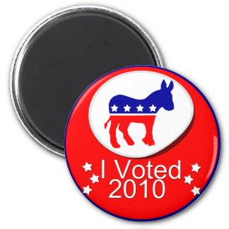 Jag röstade demokratiskt i 2010! magnet