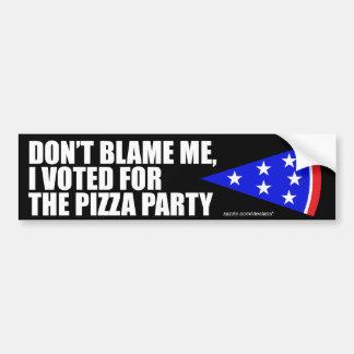 Jag röstade för Pizzapartybildekalet Bildekal