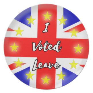 jag röstade lämnor tallrik
