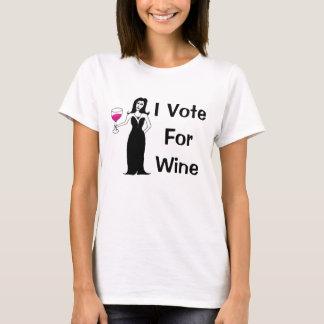 Jag röstar för vin t-shirts