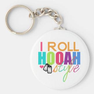 Jag rullar Hooah stil Keychain Rund Nyckelring