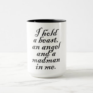 Jag rymmer en beast, en ängel och en Madman Mugg