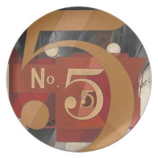 Jag sågar figuren 5 i guld dinner plates