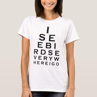 Jag ser fåglar Eyechart T Shirts