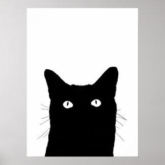 Jag ser katten klicka för att välja din färgrika poster