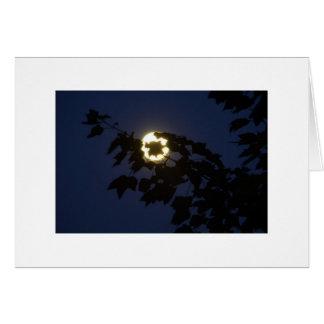 Jag ser månen hälsningskort