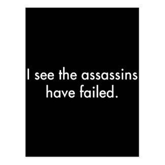 Jag ser mördarna ha stannat vykort