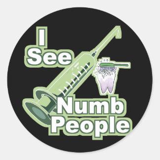Jag ser Numb folk Runt Klistermärke