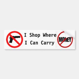 Jag shoppar var jag kan bära… bildekal