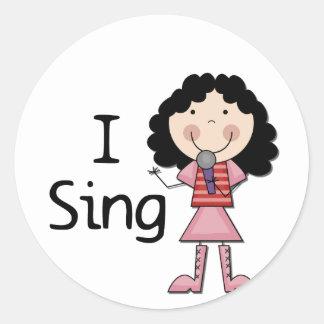 Jag sjunger kvinnliga Tshirts och gåvor Klistermärke