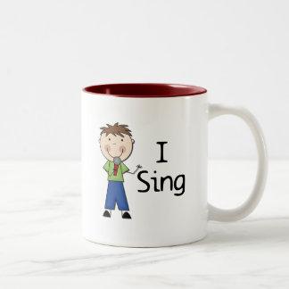 Jag sjunger - Male Tshirts och gåvor Mugg