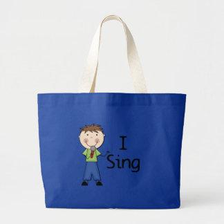 Jag sjunger - Male Tshirts och gåvor Tote Bags