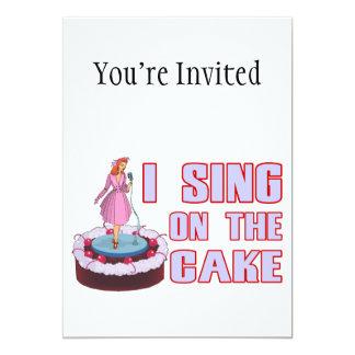 Jag sjunger på tårtan 12,7 x 17,8 cm inbjudningskort